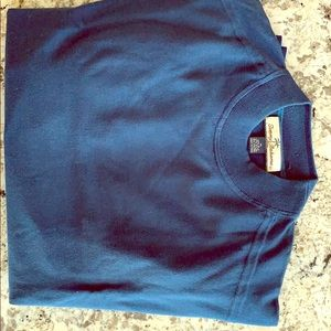 Mens Tommy Bahamas silk/cotton teal sweater.